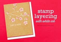 Video: White Ink Stamp Layering + Blog Hop + GIVEAWAY | Jennifer McGuire Ink