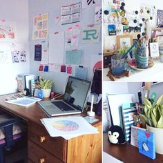 This week I'm joining in with #MeetTheMakerWeek organised by @joannehawker and today is about where I work. This is my little office I've had this desk since 2002 (when I was just 14) and it has been with me ever since. I work in my spare room which doubles up as a guest bedroom when we have family staying. Whilst I'm working I'm regularly surrounded by lots of paper notebooks pens paints etc and I'll manage to find the smallest space to work. The organised chaos regularly extends onto the…