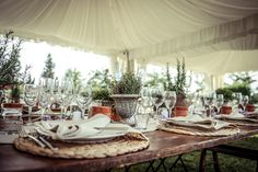 Country-Chic mise en place