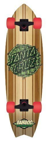 "Santa Cruz Skate Bamboo Inlayed Shark Cruzer Skateboard (9.7 x 33-Inch) by Santa Cruz. $130.45. DC Bamboo Inlayed Shark Cruzer - 9.7"" x 33""Completely assembled and ready to ride out of the box.9-ply bamboo deck construction with a bamboo thatch top for long-lasting strength and durability. Spray grip on deck for superior grip and traction.B150 Bullet trucks. 68mm Road Rider™ 78A wheels.Dimensions: 9.7"" wide x 33"" long.. Save 20% Off!"