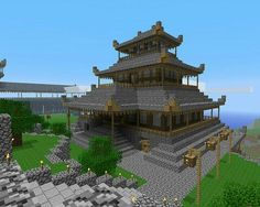This is a really cool minecraft house!