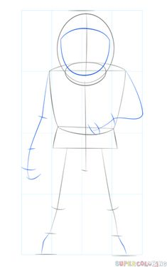 How to draw an astronaut   Step by step Drawing tutorials ...