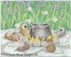 """""""Poppin' Good times"""" from House-Mouse Designs®. This image was recently purchased by Rebecca, from Vermont, as a 5""""x7"""" matted print . Click on the image to see it on a bunch of really """"Mice"""" products."""