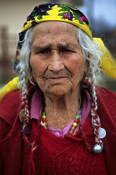 She rocks it! Older Gypsy Woman - She's one of the original free spirits.