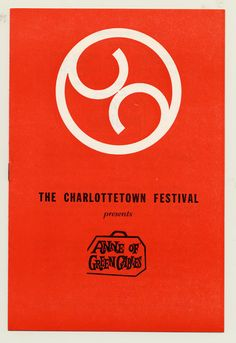 1970 brochure cover, Anne of Green Gables - The Musical™ at Confederation Centre of the Arts.