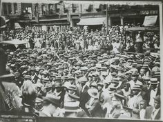 James Van Der Zee, Marcus Garvey Rally, 1924. Gelatin silver print, 7 1/8 × 9 3/8 in. (18.1 × 23.8 cm). Whitney Museum of American Art, New York; gift of Manny and Skippy Gerard
