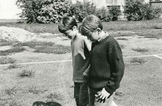 Daniel Radcliffe and Rupert Grint the first day they met.