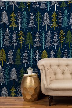 Heather Dutton Oh Christmas Tree Midnight Tapestry | DENY Designs Home Accessories
