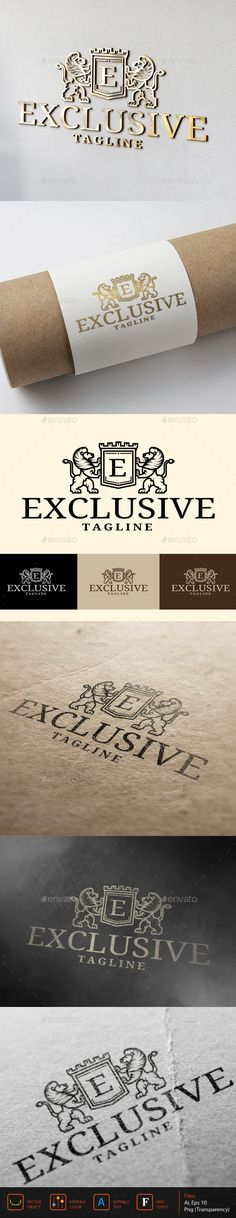 Exclusive Logo — Vector EPS #fashion #flourish • Available here → https://graphicriver.net/item/exclusive-logo/13046794?ref=pxcr