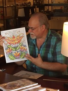 Coloring with Kevin -- Artist at HCI Books highlights the importance of giving love to positive and negative space.  It is not important to color everything.  You want contrast.  Use white space.  Become fascinated with your coloring process!