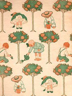 """""""Jardín de versos para niño"""" de Robert L.Stevenson. Ilustraciones de Jessie Willcox Smith. http://www.yekibud.es/jardin-de-versos-para-ninos/"""