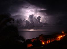 Lightning illuminating the clouds!