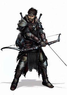 m Fighter archer Longbow Plate Swords traveler