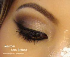 Tutorial de maquiagem Marrom com Branco da Adriana Krieger, like a make, blog de maquiagem, marilene sales, adriana Krieger, beleza, mulher bonita