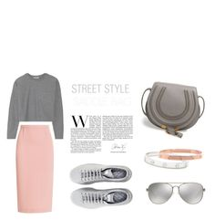 """""""LIGHT PINK AND GREY SET"""" by stylecious ❤ liked on Polyvore featuring Roland Mouret, T By Alexander Wang, Chloé, Raf Simons, Michael Kors, Cartier, polyvoreeditorial and saddleup"""