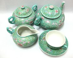 ANTIQUE CHINA CHINESE TEA SET / MARKED