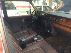 The leather is worn but complete.  It has two tears that we will repair.  Eventually, she'll need a new interior.
