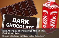 El día de San Valentín se acerca y si está pensando  comprar una gran caja de chocolates  para su pareja (o para usted), tenga en cuenta que muchos chocolates oscuros pueden contener leche - un problema potencial para aquellos que son alérgicos a la leche #IntoleranciaLactosa #SanValentin http://go.usa.gov/3qEyQ.