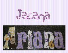 Hand Painted Nursery Letters M2M Cocalo Jacana  www.funkyletterboutique.com