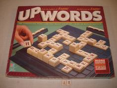 A bit like Scrabble, only in UpWords you get to make new words by building up vertical stacks of new letters. Word Games, Vintage Games, New Words, Scrabble, Boards, Joy, Spencer Hastings, Handmade Gifts, Memories