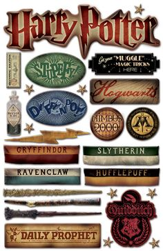 Creative Imaginations Harry Potter Epoxy Stickers