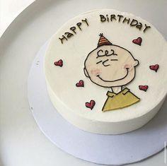 Pretty Birthday Cakes, Happy Birthday Cakes, Pretty Cakes, Cute Cakes, Bts Cake, Anime Cake, Simple Cake Designs, Pastel Cakes, Birthday Cake Decorating