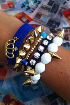 #blue and #white #bracelet