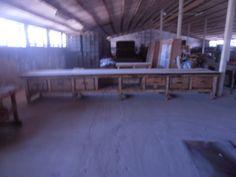 tka 6 meter lange originele werkbank,+-100 jaar oud ,geheel gerestaureerd absoluut een\malig even mailen vopor meer pics en restauratie prijs 4500 euro