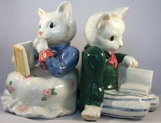 FITZ and FLOYD Kittens Of Knightsbridge Bookends by HammersHollow, $39.99