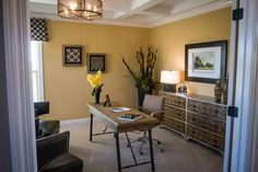 Den/home office in a new home from @rockfordhomes