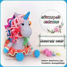 In this article I will share with you a great amigurumi doll free pattern. You can enjoy this beautiful amigurumi doll free pattern with pleasure. Amigurumi Free, Amigurumi Doll, Crochet Bunny, Free Crochet, Giraffe Crochet, Miki Mouse, Crochet Dolls Free Patterns, Crochet Unicorn Pattern Free, Rainbow Unicorn