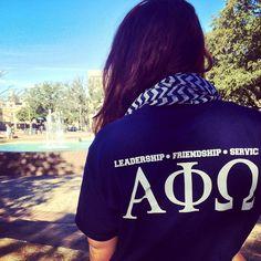 """Want to get involved on campus? RUSH ALPHA PHI OMEGA! #APOWednesday"" Alpha Phi Omega, Delta Phi Epsilon, Theta, Kappa, Alpha Shirt, Movie Party, Sorority Life, Greek Life, Fraternity"
