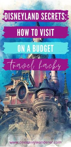 Check out these Disneyland secrets for visiting Disneyland on a budget. These travel hacks will help you plan a trip to Disneyland for cheap in 2020.    #disneyland #travelhacks #disneylandtips