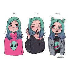 Ce que j'aimerais faire si j'avais pas les cheveux courts. '-'