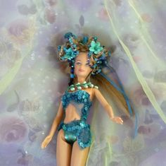 Protection Spirit Turquoise Doll  Beaded Doll by mystic2awesome