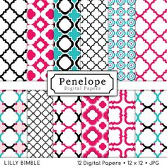 Instant Download Digital Scrapbook Papers Chevron by LillyBimble