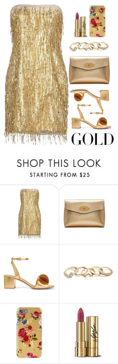 """""""Gold"""" by melaniemeran ❤ liked on Polyvore featuring Jenny Packham, Mulberry, Mercedes Castillo, GUESS and Dolce&Gabbana"""