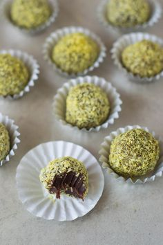 Raw Coconut & Turmeric Chocolate Truffles via @wallfloweraimee