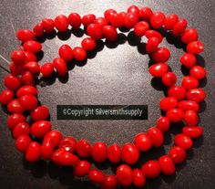 Add this strand of beads to your collection of beading supplies, or use it to make a wonderful gift ! Semi Precious Beads, Oxblood, Bamboo, Coral, Red, Ebay, Fashion, Moda, Fashion Styles