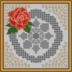 The first of 12 designs in the Azulejos Series: Roses. Its a floral design with blackwork and cross stitch.  With this purchase, you will get a PDF file for the described item, not the finished work. The download will be available right after your payment is cleared.  · File content:  - Symbols pattern chart in color  - Symbols pattern chart in black and white  - Rendered pattern to give an idea of the finished product  · Size: 22 x 22 cm  · What do you need to get the same look: - Lugana…