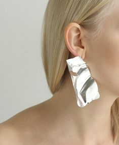 Серьги YOU WERE CLEAR AND CALM silver Waves, Calm, Earrings, Silver, Collection, Style, Ear Rings, Swag, Stud Earrings