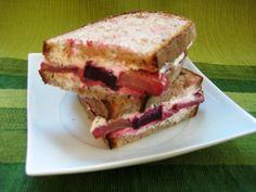 Lentils Sandwich, Roasted Beet, Cheese Lentils, Lentil Sandwich, Goat ...