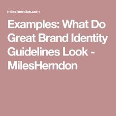 Examples: What Do Great Brand Identity Guidelines Look - MilesHerndon