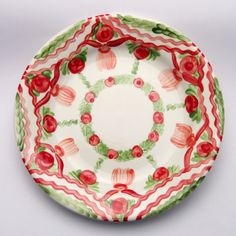 ursola Plates, Tableware, Design, Red, Green, Unique, Tablewares, Licence Plates, Dishes