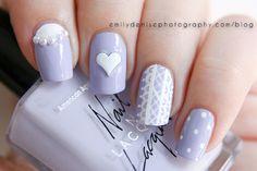 Lovely lavender nail art