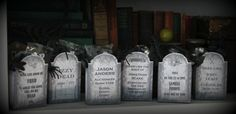 Printable Set of Halloween Tombstones