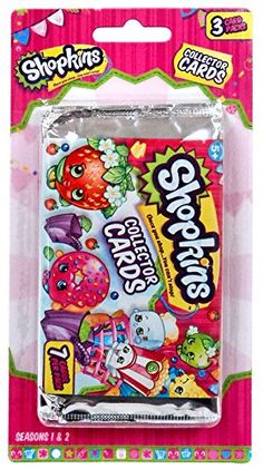 Shopkins Shopkins Collector Trading Card Packs [3 Packs].  Great small Christmas gift or stocking stuffer for a little girl.