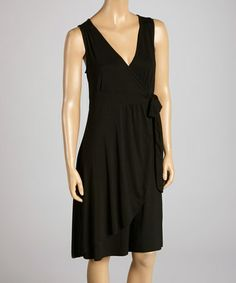 Look what I found on #zulily! Black High Shore Wrap Dress by Fresh Produce #zulilyfinds