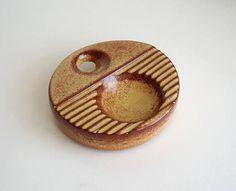 Posacenere Bertoncello rotondo screziato ceramica artistica