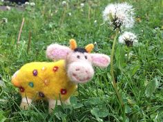 Happy Little Cow, Needle felted by MsNelliKatz
